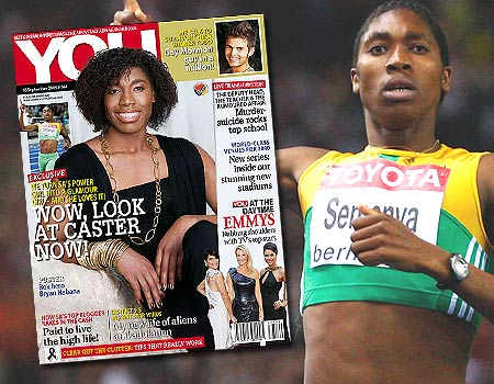 Semenya on the cover of You Magazine. Photo Credit: Mirror.co.uk